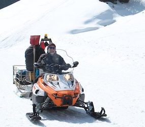 ATV vs Snowmobile Ice Fishing