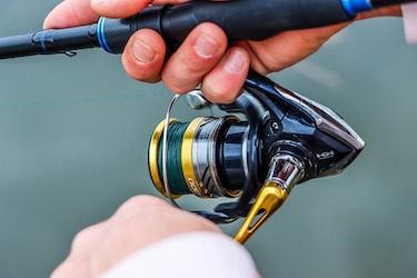 saltwater fishing with a freshwater reel
