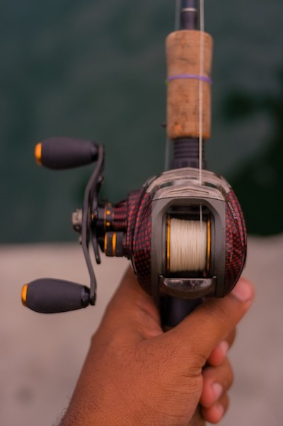 spooled baitcaster reel