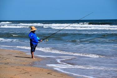 morning surf fishing